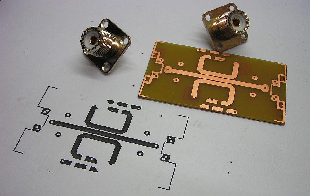 PCB del Medidor de ROE SWR