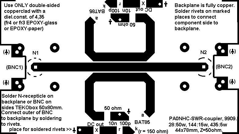 PCB Original del Medidor de ROE SWR