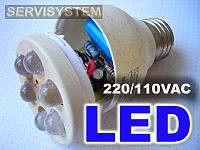 Lámparas LED 220/110VAC